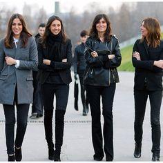 French fashion pack #style #vogue #geraldinesaglio #emanuellealt #capucinesafyurtlu #clairedhelen