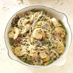 Shrimp Pasta Primavera Recipe from Taste of Home -- shared by Shari Neff of Silver Spring, Maryland