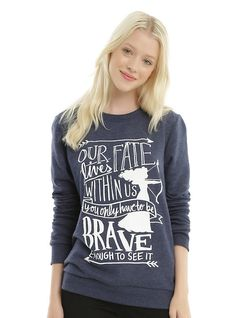 XL for Hot Topic sweatshirts :D (I have one and know for sure with size!)