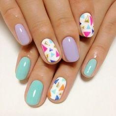 triangle nail design #manicure