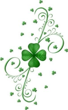 Four Leaf Clover Tattoo, Clover Tattoos, St Patricks Day Pictures, St Patricks Day Wallpaper, Saint Patricks Day Art, Irish Images, Shamrock Tattoos, St Patrick's Day Decorations, Retro Girls