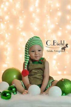 Resultado de imagem para ideias fotos de bebe para natal