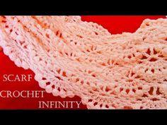 Como tejer bufanda infinita circular tubular fácil en puntos originales - Knit scarf infinity - YouTube