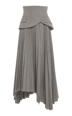 Pleated Peplum Cotton Midi Skirt by A. for Preorder on Moda Operandi Pleated Peplum Cotton Midi Skirt by A. for Preorder on Moda Operandi Pleated Midi Skirt, Dress Skirt, Peplum, Women's Skirts, Jean Skirts, Denim Skirts, Long Skirts, Skirt Pants, Couture