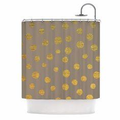 Earth Dots by Nika Martinez Shower Curtain
