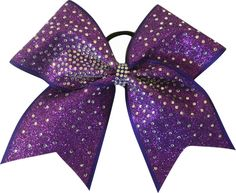 Blazing Rhinestone Glitter Large Cheer Bow-