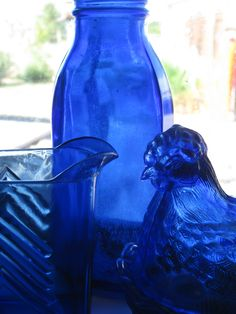 Cobalt Blue | Cobalt Blue Glass on Window Sill