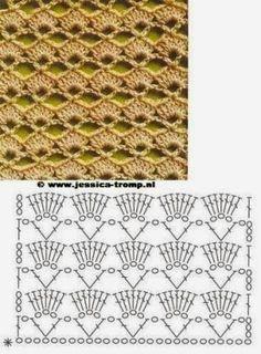 puntos de abanicos en crochet - Buscar con Google