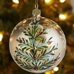 Amazing Ideas for hand painted ornaments - DIY Ideas Christmas Ornaments To Make, Homemade Christmas, Christmas Art, Christmas Decorations, Handpainted Christmas Ornaments, Burlap Ornaments, Amazon Christmas, Dough Ornaments, Homemade Ornaments