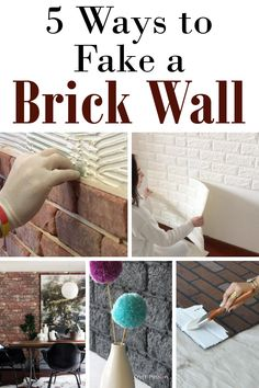 Brick walls have been popping up all over the internet and I am absolutely in love. But what if you don't have the time or money to in...