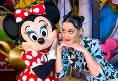 Minnie Mouse and Katy Perry struck diva poses during the pop star's July 4th visit to Walt Disney World in Lake Buena Vista, Fla.