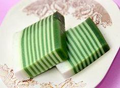 Kue Lapis wit groen