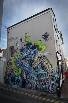 Mr. Zero, #streetart in Brighton