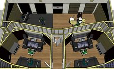 converted warehouse recording studio plans - Google Search