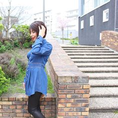 Chemise-tunique: #ddbruyere Legging similicuir: @pimkie Tissu : lyocell effet denim de tissu.net  Lookbook dans la bio ! #ooth #blogclermont #clermontferrand #faitmain #blogcouture #diycouture #couture #handmade #sewingaddict #coutureaddict #sewingblogger #sewingproject #projetcouture #denim #pimkie #diy #jolitissu