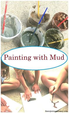 Mud Painting Fun Messy Art for Kids is part of Painting activities - Looking for a fun process art activity Mud painting is a fun sensory experience that is perfect for kids of all ages Learn how to make colorful mud paint Forest School Activities, Preschool Art Activities, Nature Activities, Outdoor Activities For Kids, Outdoor Learning, Learning Activities, Process Art Preschool, Children Activities, Preschool Painting