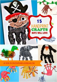 15 Handprint Crafts Boys Will Love - Spaceships and Laser Beams
