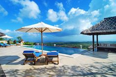 This #Ocean View Hideaway Balangan Villa is located at Balangan #Jimbaran, only 25 minutes from #airport. The villa was originally constructed in 1995 by an employee of the World Bank. The current owners acquired the property in 2007 and completed an extensive renovation project. All villa facilities were completely replaced or restored to #new condition Spacious and #luxurious this hideaway of 4 (four) exclusive bedroom #villas offer all the lavish accoutrements of a #luxury #managed villa. The villa boasts its own #infinity pool adjacent with a very #comfortable and #unique of Bale #Relaxation set in the tropical manicured garden, this particular one giving way to a #natural screen of an absolute ocean view. This villa allows guests to enjoy #Bali splendid #sunrises and its brilliant #sunsets. Book your #villa #hotel #accommodation with us get the best rate offers. for futher inquiries email to; info@geriabalivacation.com #geriabali #beautifuldestination #nevergoingtoboycottbali #hgtv #darlingescapes #pinktrotters #thegoldlist #roomcritic #tgif #vacation #luxuryworldtraveler  www.geriabalivacation.com/balangan-villa/ Beautiful Ocean, Beautiful Homes, Beautiful Places, Jimbaran Bali, Luxury Villa Rentals, Paradise On Earth, Swimming Pools, Outdoor Living, Villas