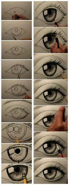 .excelentes pasos para pintar un ojo