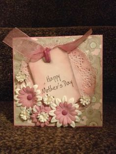 Handmade mother's day card by Sherie at FranklinandDelilah