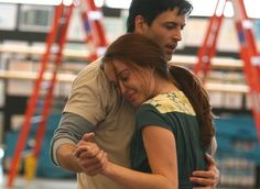 One Step Closer. Sierra Boggess (Ariel) and Sean Palmer (Prince Eric). The little mermaids practice