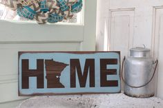 ANY STATE  State of Minnesota Home Wooden Sign  Can be by Wildoaks, $45.00