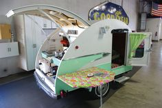 Vintage Teardrop Trailer...this is my Myst have so I can travel the U.S.
