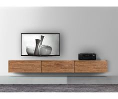 Livitalia Holz Lowboard Konfigurator FGF Mobili Massivholz Lowboard Konfigurator Hängend B 270 cm H 427 cm T 50 cm Parawood Mehr The post Livitalia Holz Lowboard Konfigurator appeared first on Rustikal ideen. Tv Unit Furniture, Lounge Furniture, Tv Wall Design, Loft Design, Living Room Wall Units, Home Living Room, Tv Wall Cabinets, Tv Unit Decor, Modern Tv Wall