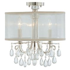 LG Fave! Hampton Chrome Ceiling Mount from @LaylaGrayce #laylagrayce #lighting