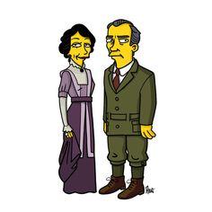 Her Ladyship and His Lordship. Cora Crawley and Robert Crawley.