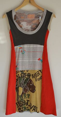 upcycled t shirt dress dress front or back?