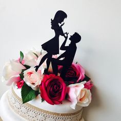Engagement Cake Toppers, Engagement Cakes, Graduation Cake Toppers, Birthday Cake Toppers, Personalized Wedding Cake Toppers, Custom Cake Toppers, Silhouette Cake, Confirmation Cakes, Baby Shower Cakes