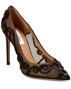 """Valentino """"Arabesque"""" Mesh Leather Pump is on Rue. Shop it now."""