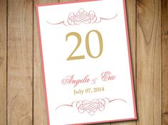 """Wedding Table Number Template Download 