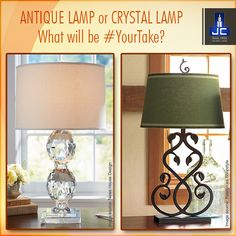 It is all about the small things, that makes your home beautiful. What is #YourTake?  A classic and antique lamp or a sparkling crystal lamp to decorate your home sweet home.