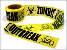 """Zombie Outbreak Barricade Tape Halloween or """"The Walking Dead"""" viewing party Halloween Zombie, Halloween Party, Halloween Ideas, Halloween Office, Halloween House, Halloween 2019, Halloween Crafts, Zombie Wedding, Zombie Prom"""