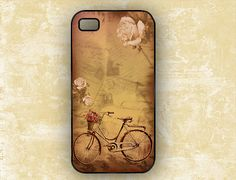 Vintage bike bicycle with roses by ToGildTheLily