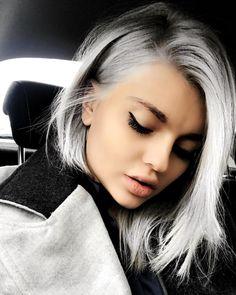 "50.7k Likes, 456 Comments - www.iamella.com, Элла Дворник (@elladvornik) on Instagram: ""Ice ice Baby ❄️ #whitehair #makeover #keune #snowwhite #lob #fashion #style #hairgoals…"""
