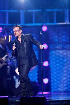 """Singer Bono of U2 performs during the 17th annual Keep Memory Alive """"Power of Love Gala"""" benefit for the Cleveland Clinic Lou Ruvo Center for Brain Health celebrating the 80th birthdays of Quincy Jones and Sir Michael Caine on April 13, 2013 in Las Vegas, Nevada. (source: Isaac Brekken/Getty Images North America)  #u2newsactualite #u2newsactualitepinterest #music #rock #lasvegas #concert   www.zimbio.com/photos/Bono/Keep+Memory+Alive+17th+Annual+Power+Love+Gala/H4njmUByxqB"""