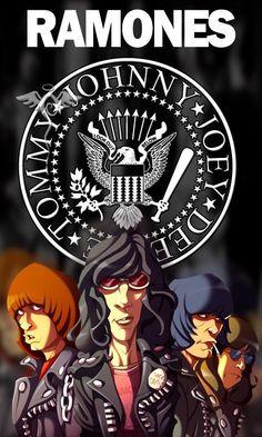 The Ramones Wallpaper - WallpaperSafari Rock Posters, Band Posters, Concert Posters, Gig Poster, Ramones, Historia Do Rock, Pearl Jam Posters, Grateful Dead Music, Heavy Metal Art