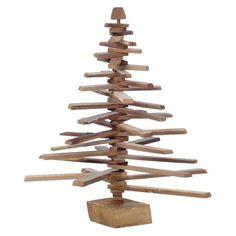 Wood Slat Spiral Tree Antique Wood 2