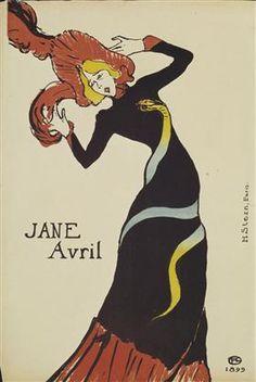 Jane Avril - Henri de Toulouse-Lautrec