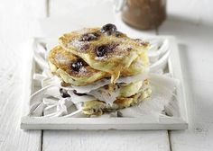 Real Cherry Pancakes Cooking Time, Cooking Recipes, Tasty Pancakes, Dessert Recipes, Desserts, Waffles, Sandwiches, Cherry, Brunch