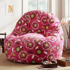 I love the Dandy Dot Floral Pink Magenta Leanback Lounger on pbteen.com
