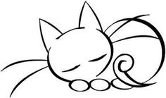 Image result for sleeping kitty drawing images