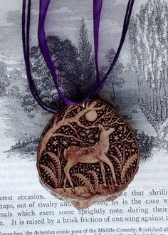 Forest Deer Pendant     Pyracantha            G.M.R 2015