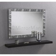 Alexei Modern Silver Framed Wall Mirror