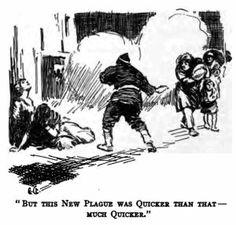 Jack London - The Scarlet Plague, ilustración de Gordon Grant, 1915