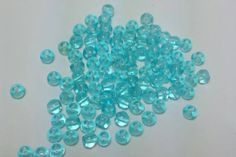 3mm Aqua Czech Glass Beads  Smooth Round by TheArtisticEndeavor