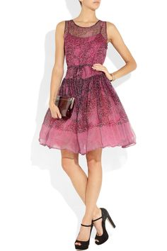 Another great dress!  RED Valentino | Animal-print silk-chiffon dress | NET-A-PORTER.COM